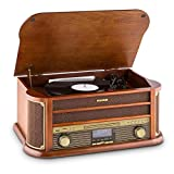 Auna Belle Epoque 1908 - Design retrò, giradischii, Stereo, Radio Digitale, Dab+, Lettore...