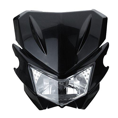 Alamor 12V H4 Lampe De Tête Universelle Moto pour Yamaha Dual Sport Street Fighter Dirtbike - Noir