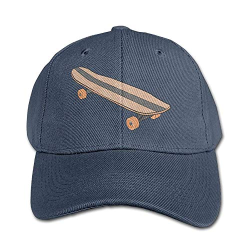 Wamnu Kids Girls Boys Skateboard Flat Bill Outdoor Baseball Cap