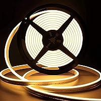 👉【3000K Farbtemperatur 】Der warmweiße LED-Streifen enthält 500 superhelle warmweiße LEDs.12V Betriebsspannung und 3000K Farbtemperatur. Upgraded LED und Side-Brightness Design machen Led Strip Lights leuchten heller als andere, 120 Grad Projektionsbe...
