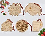 Viipha 2020 Virus Quarantäne Weihnachten Ornamente Set von 5 Stilen – Holz graviert Corona, Toilettenpapier, Weihnachtsmann, Maske – Covid Souvenir Andenken lustige Weihnachtsgeschenke