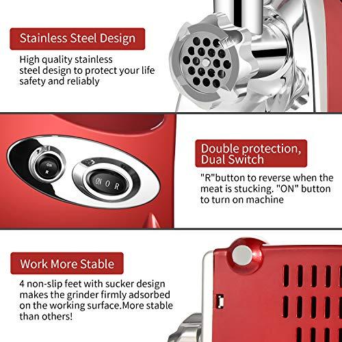 Nestling® Electric Meat Mincer Grinder and Sausage Maker,Powerful 2800 Watt Copper Motor