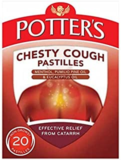 Potters Catarrh Pastilles 45g Chesty Cough 20 Non-Drowsy by Potters