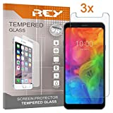 REY Pack 3X Panzerglas Schutzfolie für Huawei Honor 7A, Bildschirmschutzfolie 9H+ Festigkeit, Anti-Kratzen, Anti-Öl, Anti-Bläschen