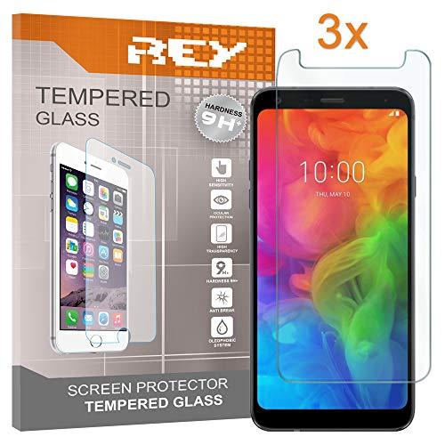 REY 3X Protector de Pantalla para Huawei Honor 7A, Cristal Vidrio Templado Premium
