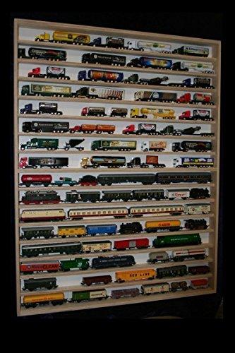V82 Vitrine Spur N Setzkasten mit Scheibe Regal Holz Hängevitrine Deutsche Holzmanufaktur Wandregal - 90 cm x 115 cm x 6 cm - mit 4 Plexiglasscheiben