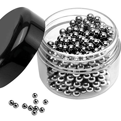 Muziyu - Perle in acciaio inox 18/10 per la pulizia di decanter, vasi, caraffe, bottiglie - Diametro 4mm - 400 pezzi