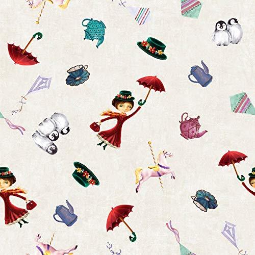 Tela por metros de loneta estampada digital - Half Panamá 100% algodón - Ancho 280 cm - Largo a elección de 50 en 50 cm | Mary Poppins