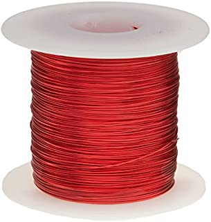 """Remington Industries 22SNSP 22 AWG Magnet Wire, Enameled Copper Wire, 1.0 lb, 0.0263"""" Diameter, 507` Length, Red"""