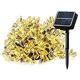 Cadena solar de luces LED SALCAR de 5 metros, 20 la flor de cerezo de decoración, Solar Luz Cadena luminaria para navidad, fiestas, celebraciones (luz cálida)