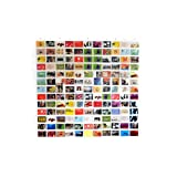 HAB & GUT -DV005- Duschvorhang/Bildervorhang mit 143 Taschen, 175 x175 cm Fotovorhang