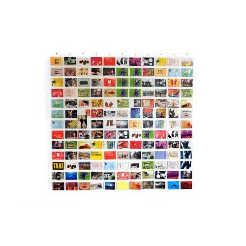 HAB und GUT -DV005- Duschvorhang/Bildervorhang mit 143 Taschen, 175 x175 cm Fotovorhang