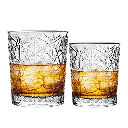 Bormioli Rocco Verres Tumbler à Whisky et Double Old Fashioned - Style Vintage/Verre taillé - Lot de 12