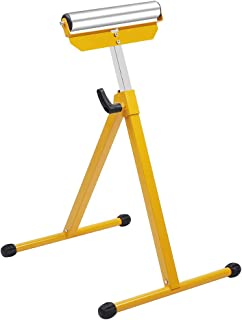 TUFFIOM Folding Roller Stand, Material Support Pedestal Height Adjustable Portable, 132lbs Weight Capacity, Work with Table Miter Saws for Log Timber Firewood