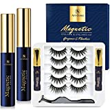 Arishine 5 Pairs Magnetic Eyelashes with Eyeliner Synthetic Fiber Material| 3D Magnetic Lashes| Natural Round Look| Soft & Lightweight| Reusable| 100% Handmade & Cruelty-Free 502