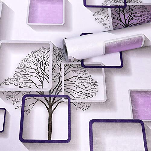 Wolpin Wall Stickers DIY Wallpaper (45 x 500 cm) 3D Frames and Trees Self Adhesive Decals Living...
