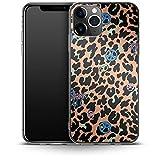 Carcasa de Silicona para iPhone 11 Pro, diseño de Leopardo de la Paz