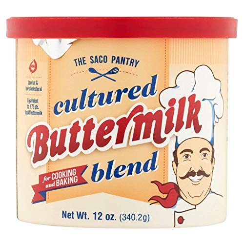 Saco Cultured Powdered Buttermilk Blend, 12-ounce Can (Pack of 1)