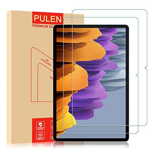 PULEN Protector de pantalla para Samsung Galaxy Tab S7 Lite [libre de burbujas] [no se pegan las huellas dactilares] [resistencia a los arañazos] [HD] película de vidrio templado