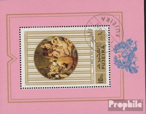 Prophila Collection Fujeira Block106A (kompl.Ausg.) 1972 Aktgemälde (Briefmarken für Sammler) Malerei