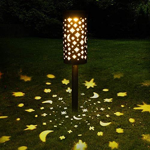 Bearbro Solar Lamps Garden,1pcs Solar Pathway Lights Outdoor,Decorative Garden Lights,Waterproof,Water Density IP44 Led Landscape Lantern for Walkway, Path, Lawn, Patio,Yard (Bronze1-1PCS)