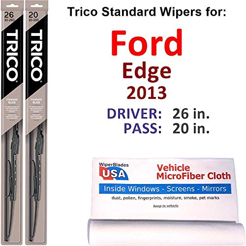 Wiper Blades Set for 2013 Ford Edge Driver/Pass Trico Steel Wipers Set...