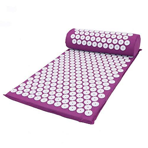 Heqianqian Esterilla de yoga antideslizante apta para suelo y fitness, esterilla de relajación, esterilla de fitness, yoga, respetuosa con el medio ambiente (tamaño: 66 x 42 x 2 cm; color: gris)