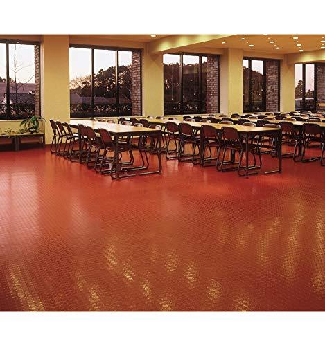 Pavimento Circulos caucho Rojo 3mm. Lestare Precio por m2