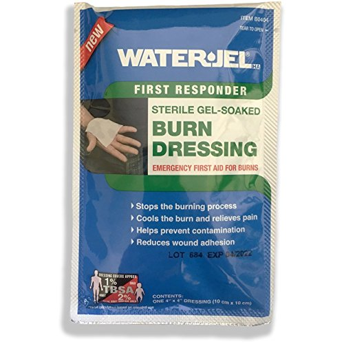 Water Jel Burn Dressing, Sterile 4 X 4 from Rescue Essentials by Water Jel