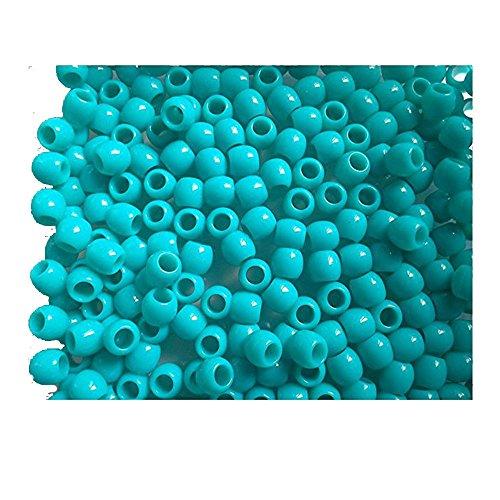 Lot de 50 perles Couleur Bleu TURQUOISE pour création bracelet Rainbow Loom Bands
