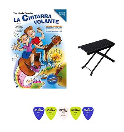 La Chitarra Volante Vol. 1, Poggiapiede per Chitarrista, 5 Plettri.