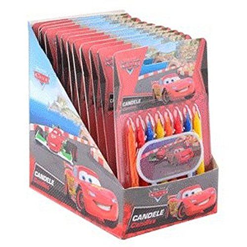 CANDELE CARS 8 PZ + BANNER CARS ASSORTITO