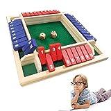 Holz Tisch Spiel Klassisch,4 Spieler Digital Flop Game,Spieler Shut The Box,Holz Brettspiel...