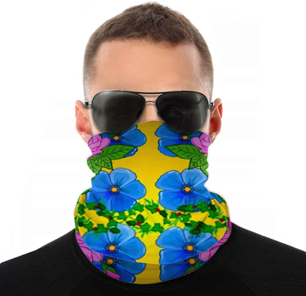Headbands For Men Women Neck Gaiter, Face Mask, Headband, Scarf Abstract Elegance Vector Seamless Pattern Rose Turban Multi Scarf Double Sided Print Women Headbands For Sport Outdoor