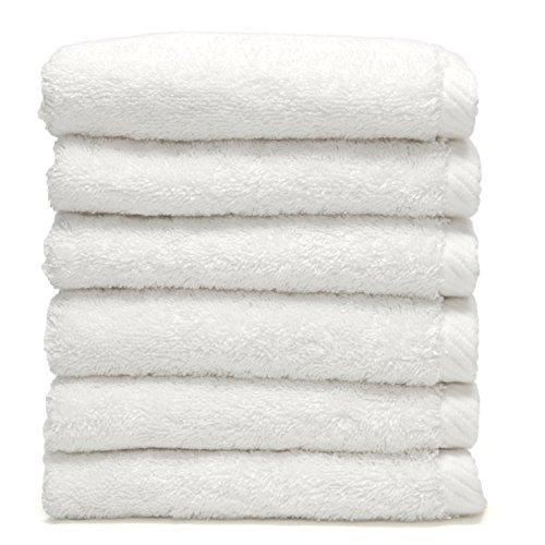 Linum Home Textiles Doux Twist 100% Coton Turc Gants de Toilette, Lot de 6