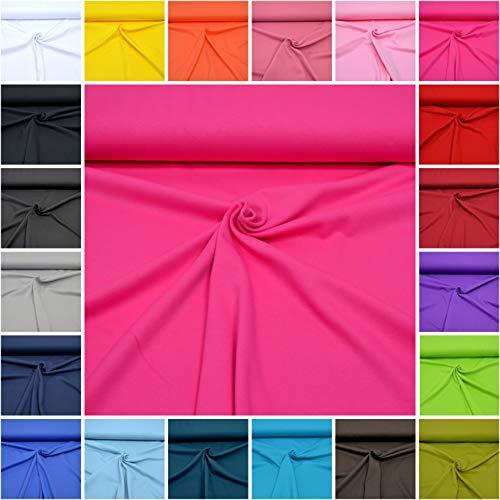 MAGAM-Stoffe Micha Interlock Jersey Uni 100% Baumwolle Oeko-Tex Meterware 50cm (06. Pink)