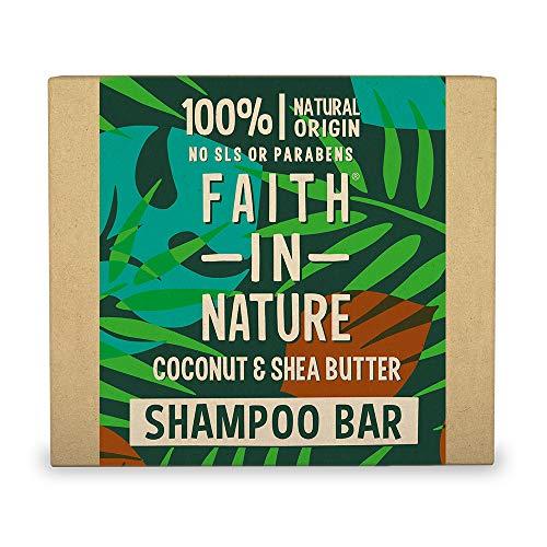 Champú sólido de coco y manteca de karité de Faith In Nature