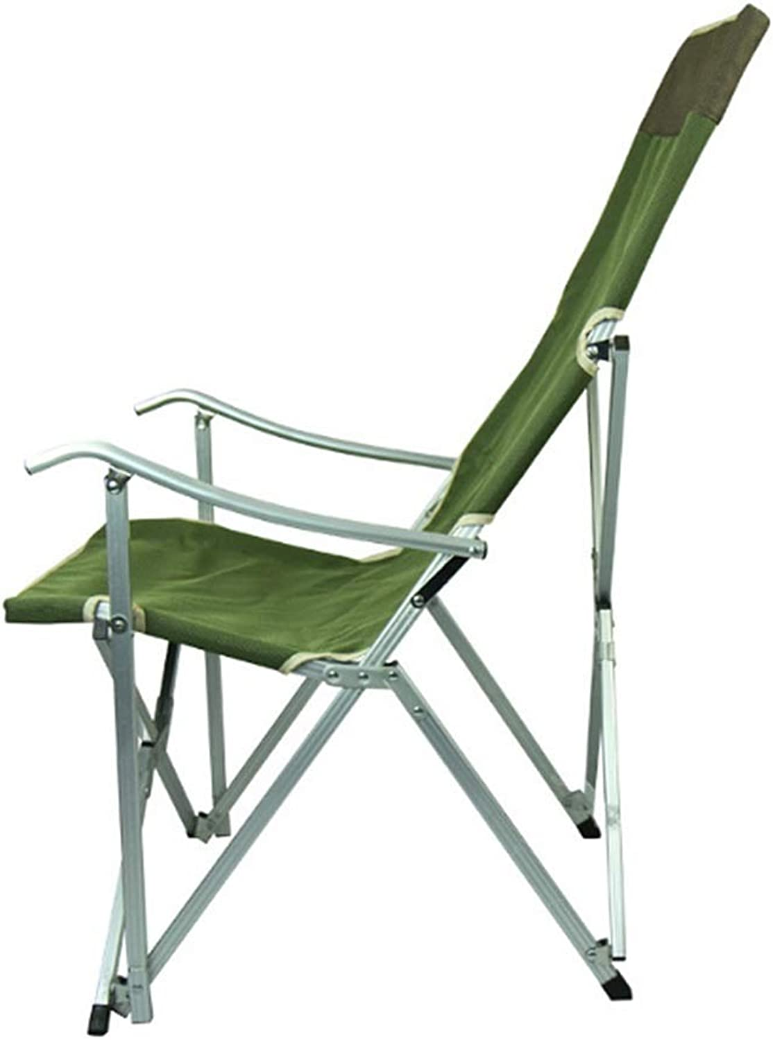 Folding Backrest Armrest Camping Fishing Beach Hiking Leisure Chair for Outdoor Use,Versatility (color   Army Green)