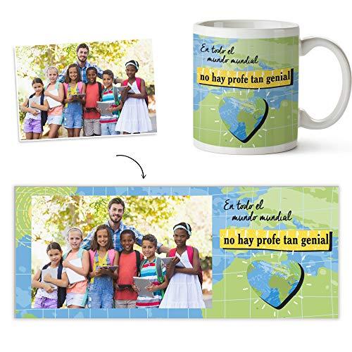 Fotoprix Taza Personalizada con Foto para Regalar a tu Profesora | Regalo Original para Profesor | Varios diseños (Profe Genial)