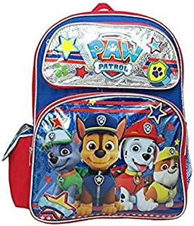 Paw Patrol Chase Marshall Rubble Rocky 16 inches Large Backpack.