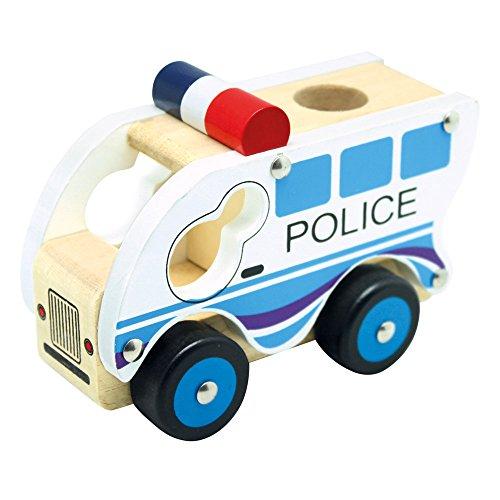 Bino Holzauto Polizei, Spielzeug für Kinder ab 12...
