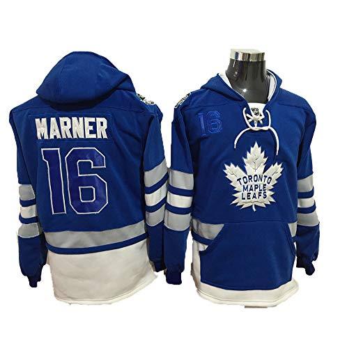 Yajun Kapuzen Pullover Hoodie NHL NHL Mitch Marner#16/William Nylander #29 Toronto Maple Leafs Sweatshirt Mode Langarm Weiches T-Shirt Winter Eishockey Trikots,Blue-16,L