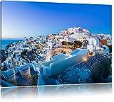 Pixxprint Oia Dorf Santorin als Leinwandbild | Größe: