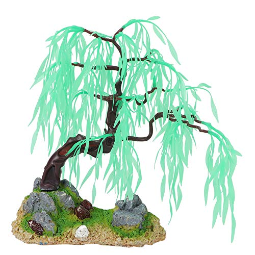 Aquarium Boom Decoraties Kunstmatige Wilg Boom Kunststof Plant Decor Vistank Bonsai Ornament Decoraties voor Zoetwater of Marine Tanks