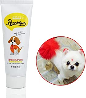 KOBWA Dog Hair Dye, 80g Pet Dog Cat Hair Coloring Dyestuffs Dyeing Pigment Agent Supplies for Creative Grooming