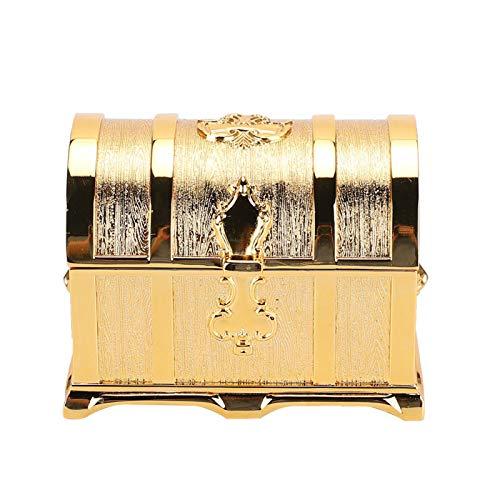 zHONgRT Caja del Tesoro de la Vendimia Caja de Almacenamiento Caja de joyería con Forma de Pirata Decoración del hogar Personalizada Oro