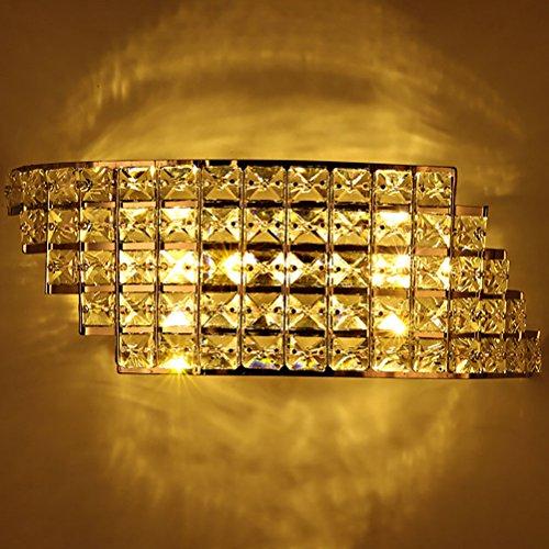 6W Modern Bedside Led Wall Lamp Crystal Bedroom Aisle Living Room Wall Light Warm Light