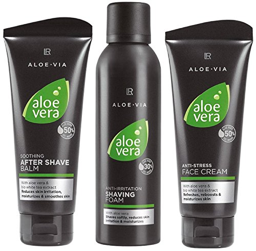 LR ALOE VIA Aloe Vera Men - Set de cuidado facial (espuma de