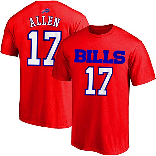 Outerstuff NFL Youth 8-20 Alternate Polyester Performance Mainliner Player Name and Number Jersey T-Shirt (Josh Allen Buffalo Bills Red Alternate, 10-12)