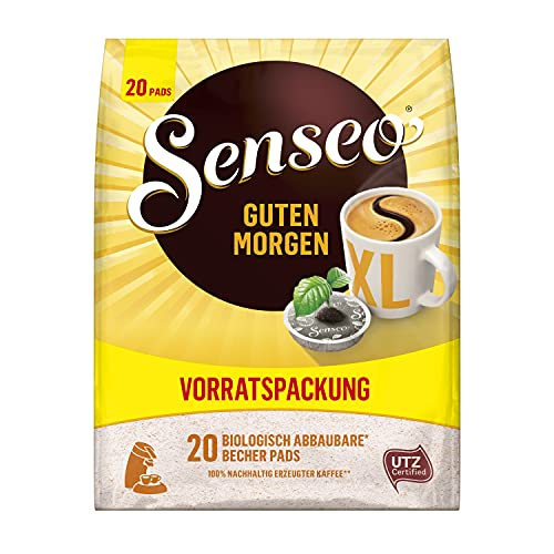 Senseo Pads Guten Morgen XL, 100 Kaffeepads UTZ-zertifiziert, 5er Vorteilspack, 5 x 20 Becherpads in der Vorratspackung, 1.25 kg